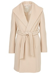 Betty Barclay Belted Wool Coat. Nature Melange
