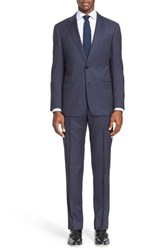 Armani Collezioni Men's Big And Tall 'G Line' Trim Fit Solid Wool Suit Navy