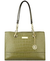 Anne Klein Coast Is Clear Small Chain Tote Olive