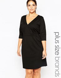 Carmakoma Shift Dress With V Neck Black