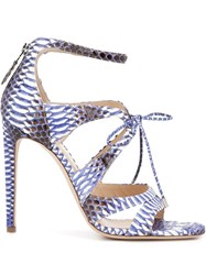Chloe Gosselin 'Bryonia' Strappy Sandals Pink And Purple