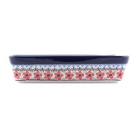 Bunzlau Castle Rectangular Oven Dish Red Violets Large