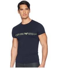 Emporio Armani Color Play Slim Fit Crew Neck T Shirt Marine Blue Pajama