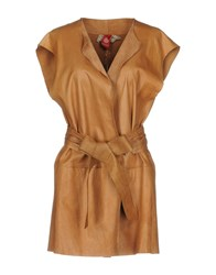 Michelle Windheuser Overcoats Tan