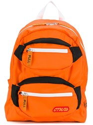 Heron Preston Pocketed Backpack Orange