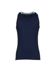 Roberto Cavalli Underwear Sleeveless Undershirts Dark Blue