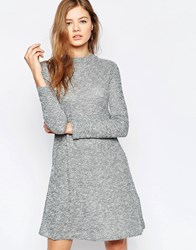 B.Young Long Sleeve Swing Dress Off White Melange