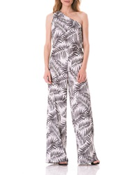 Sam Edelman One Shoulder Jumpsuit Black White