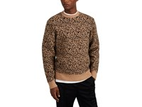 Ovadia And Sons Leopard Print Wool Blend Sweater Black