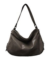 Sondra Roberts Textured Leather Hobo Bag Brown