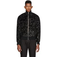 Versace Black Lurex Brocade Sweater