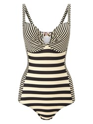 Phase Eight Stripe Swimsuit Black