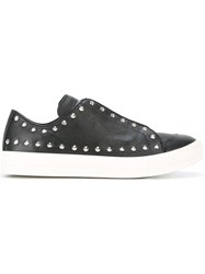 Alexander Mcqueen Studded Sneakers Men Leather Rubber 42 Black