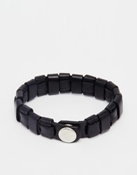 Jack And Jones Jack And Jones Leather Detail Bracelet Black