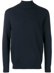 N.Peal Turtleneck Fitted Sweater Blue