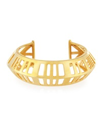 Gold Plated Cage Cuff Bracelet Nest Jewelry