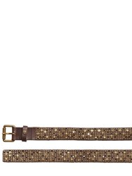 Htc Hollywood Trading Company Barack Star Studs Leather Belt