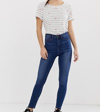 Noisy May Petite High Waist Skinny Jean Medium Blue Denim
