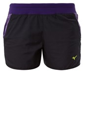 Mizuno Phenix Sports Shorts Black Parachute Purple