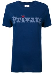 Zoe Karssen Private Print T Shirt Blue