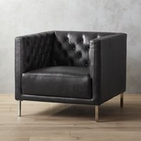 Cb2 Savile Leather Chair