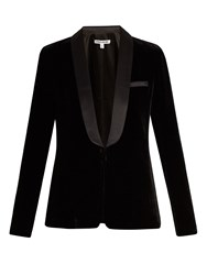 Elizabeth And James Ambrose Single Breasted Satin Velvet Jacket Black