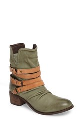 Sbicca Women's Endora Slouchy Bootie Olive Leather
