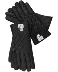 Michael Michael Kors Tech Touch Quilted Leather Hamilton Lock Gloves