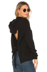 Lovers Friends X Revolve Finnegan Backless Hoodie Black