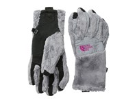 The North Face Denali Thermal Etip Glove Mid Grey Luminous Pink Extreme Cold Weather Gloves Gray
