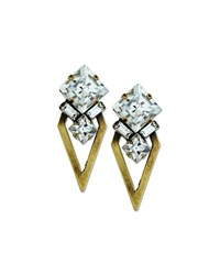 Auden Montana Crystal Arrow Earrings Bronze