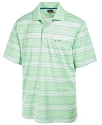 Greg Norman For Tasso Elba Men's Roadmap Performance End On End Stripe Polo Only At Macy's Green Ash