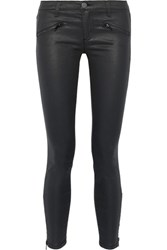 Current Elliott The Soho Coated Low Rise Skinny Jeans Black