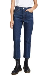 Amo Loverboy High Rise Relaxed Straight Jeans Indie Blue
