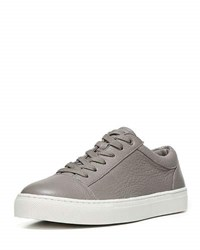 Vince Afton Leather Low Top Sneaker Gray Light Gray