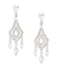 Nadri Cubic Zirconia Chandelier Earrings Silver