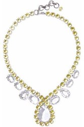 Bounkit Silver Tone Quartz Necklace Gold