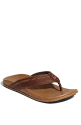 Olukai 'Hiapo' Flip Flop Men Dark Java Toffee