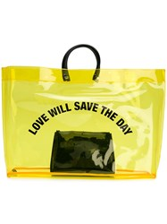 Dsquared2 Love Will Save The Day Shopper Yellow And Orange