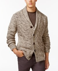 Weatherproof Shawl Collar Cardigan Oatmeal Heather