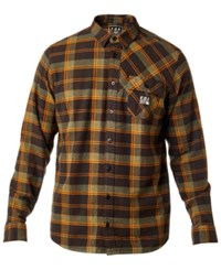 Fox Men's Drezzy Plaid Flannel Shirt Dark Fatigue