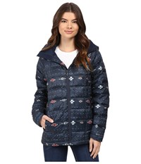 Burton Ak Baker Insulator Jacket Floral Ikat Stripe Women's Coat Blue