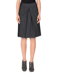 Scaglione City Knee Length Skirts Grey