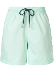 Venroy Drawstring Waist Swim Shorts Green