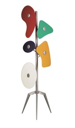 Foscarini Orbital Floor Lamp Multi Color White Red