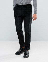 Asos Slim Suit Trousers In Cord Black