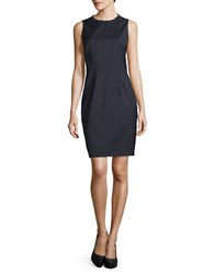 Elie Tahari Emory Sheath Dress Blue Black