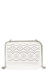 Chelsea 28 Chelsea28 Dahlia Perforated Faux Leather Shoulder Bag White White Snow