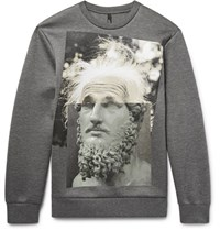 Neil Barrett Printed Scuba Jersey Sweatshirt Dark Gray
