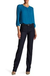 Nydj Marilyn Straight Long Jean Blue